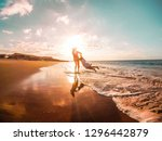 mother and daughter having fun... | Shutterstock . vector #1296442879