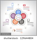infographic template design  ... | Shutterstock .eps vector #129644804