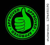 approved thumbs up icon | Shutterstock .eps vector #1296450190