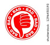 bad thumbs down icon | Shutterstock .eps vector #1296450193