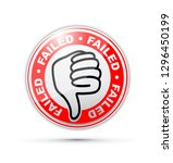 failed thumbs down icon | Shutterstock .eps vector #1296450199