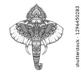 ornate inked decorative... | Shutterstock .eps vector #1296450283