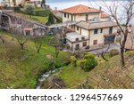 view of lezzeno city and como... | Shutterstock . vector #1296457669