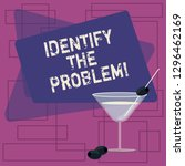 text sign showing identify the... | Shutterstock . vector #1296462169