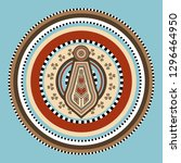 ornaments of the indigenous... | Shutterstock .eps vector #1296464950
