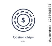 linear casino chips icon from...   Shutterstock .eps vector #1296468973