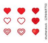 valentine's day heart symbol... | Shutterstock .eps vector #1296469753
