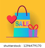 vector infographic with colored ... | Shutterstock .eps vector #1296479170
