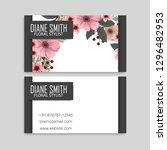floral business card design.... | Shutterstock .eps vector #1296482953