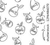 apple  pear  plum   one... | Shutterstock .eps vector #1296486070