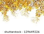 leaves branches background ... | Shutterstock . vector #129649226