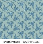 seamless decorative pattern... | Shutterstock .eps vector #1296493633