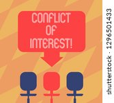 text sign showing conflict of... | Shutterstock . vector #1296501433