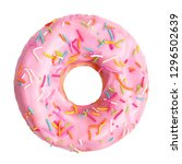 Pink Donut Decorated With...