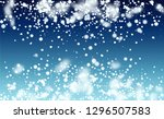 christmas snow flakes... | Shutterstock .eps vector #1296507583