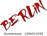 berlin text sign illustration... | Shutterstock .eps vector #1296511939