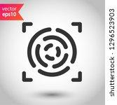 scan vector icon. fingerprint... | Shutterstock .eps vector #1296523903