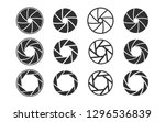 camera shutter. set of camera... | Shutterstock .eps vector #1296536839