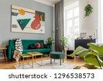 luxury and modern home interior ... | Shutterstock . vector #1296538573