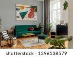 luxury and modern home interior ... | Shutterstock . vector #1296538579