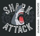 shark attack vector... | Shutterstock .eps vector #1296541450