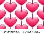 valentine's day holiday... | Shutterstock .eps vector #1296542569