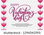 happy valentine's day. holiday... | Shutterstock .eps vector #1296542593