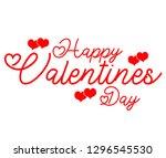 happy valentines day  | Shutterstock . vector #1296545530