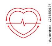 heart rhythm and heart logo | Shutterstock .eps vector #1296550879