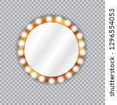 round vanity mirror with light... | Shutterstock .eps vector #1296554053
