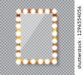 rectangle vanity mirror with... | Shutterstock .eps vector #1296554056