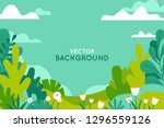 vector illustration in trendy... | Shutterstock .eps vector #1296559126
