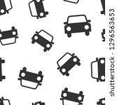 car icon seamless pattern...   Shutterstock .eps vector #1296563653