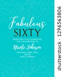 fabulous sixty birthday party... | Shutterstock .eps vector #1296563806