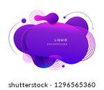 abstract fluid blob in 3d shape.... | Shutterstock .eps vector #1296565360