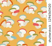 seamless pattern with mushrooms ... | Shutterstock .eps vector #1296565420