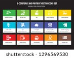 set of 15 flat e commerce and... | Shutterstock .eps vector #1296569530
