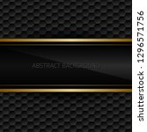 black abstract background | Shutterstock .eps vector #1296571756