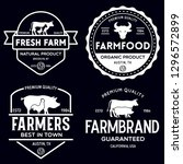 farmers market logo templates...   Shutterstock .eps vector #1296572899