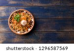 pilaf with lamb and tortillas | Shutterstock . vector #1296587569