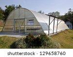 green house solar drying... | Shutterstock . vector #129658760