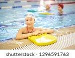 portrait of smiling girl...   Shutterstock . vector #1296591763