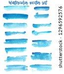 set of watercolor stain. spots... | Shutterstock .eps vector #1296592576