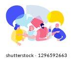 vector flat isometric... | Shutterstock .eps vector #1296592663