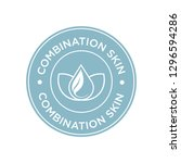 combination skin icon. label... | Shutterstock .eps vector #1296594286