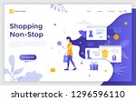 landing page with woman... | Shutterstock .eps vector #1296596110