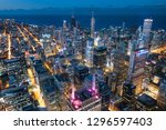 chicago. cityscape image of... | Shutterstock . vector #1296597403