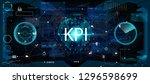 key performance indicator  kpi  ... | Shutterstock .eps vector #1296598699