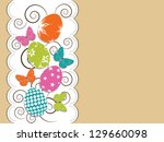 greeting or gift card for happy ...   Shutterstock .eps vector #129660098