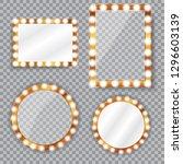 set of different geometric... | Shutterstock .eps vector #1296603139